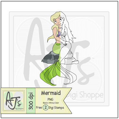 Freebie Mermaid Logo